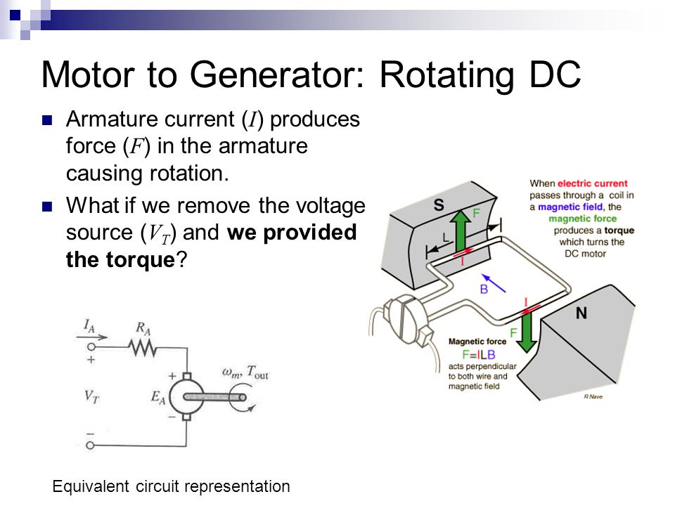 Motor to Generator: Rotating DC