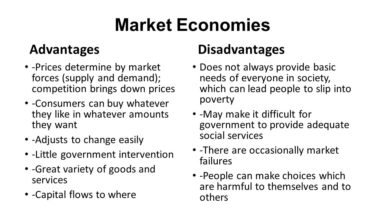 the advantages and disadvantages of command and market economies
