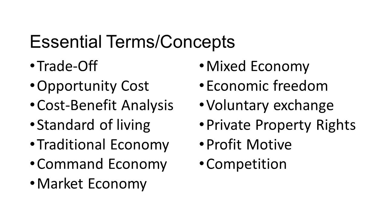 Essential Terms/Concepts