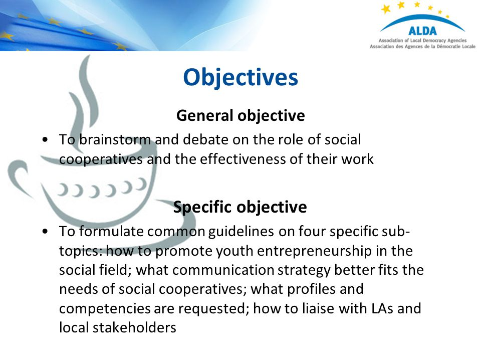 how to write general and specific objectives