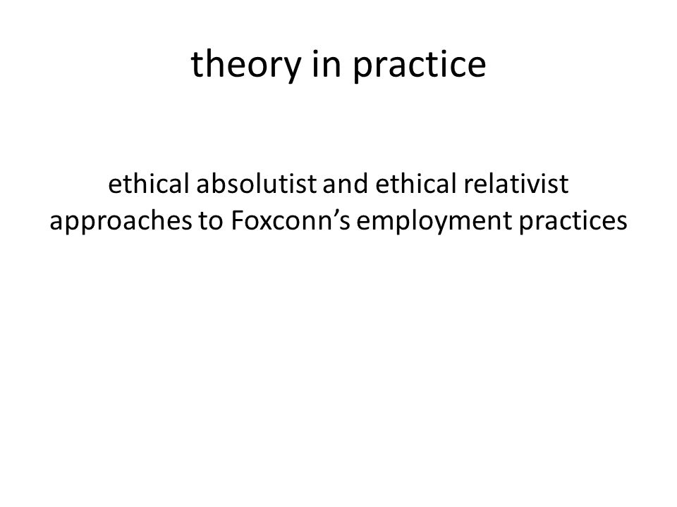 foxconn ethics In conclusion, it is ethical for apple to continue partnering with foxconn to produce devices that are price-competitive enough for the masses to afford and with such technologies changing the way people lead their lives for the better, the diminishing social cost of the partnership is a small price to pay for now.
