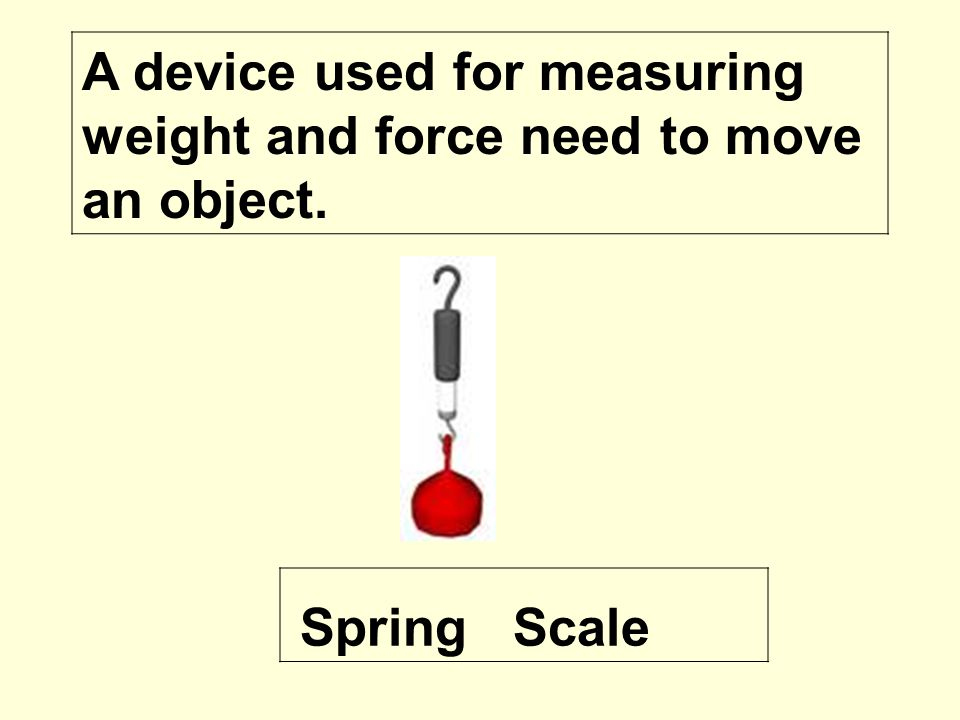 A Device That Measures Weight : Forces and motion ppt video online download