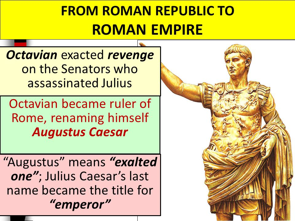 4 roman republic and caesar s Julius caesar was assassinated on the ides of march — here are some • his actions and assassination contributed to the downfall of the faltering roman republic.