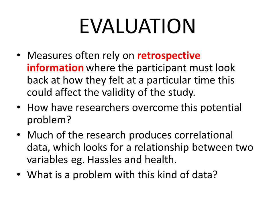 how to explain an evaluation