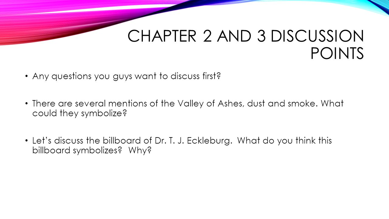 chapter 2 discussion and thought questions Start studying night chapter 2-3 study questions learn vocabulary, terms, and more with flashcards, games, and other study tools  what was elie's main thought as the men and women were being herded from the train  night chapter 2/3 review questions 11 terms night sections 2 and 3 (pages 21-43) 10 terms night section 2-3.