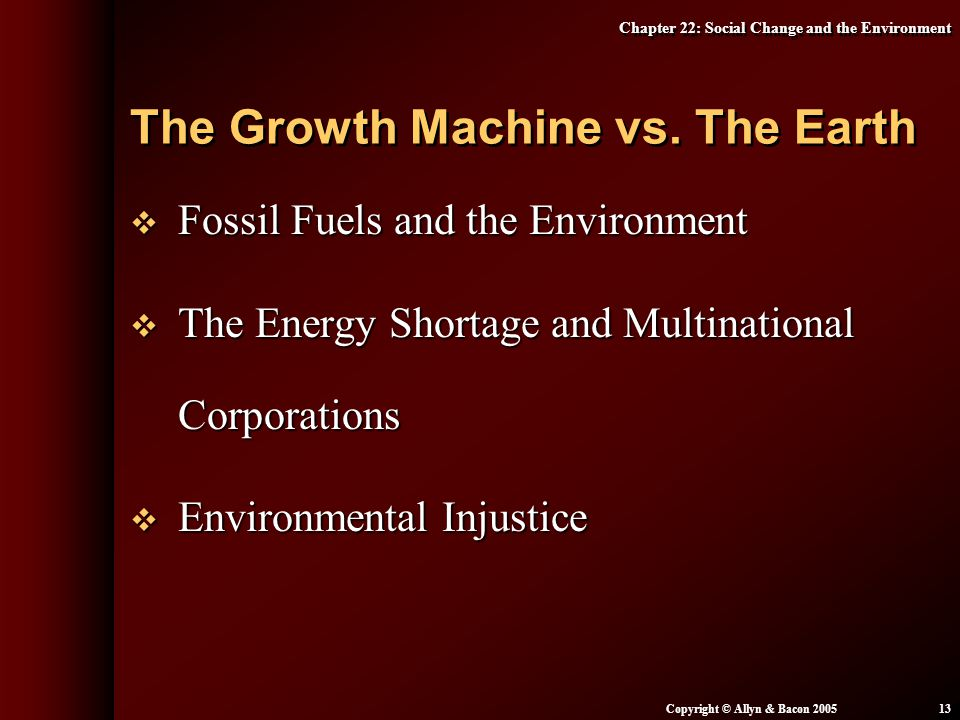 The Growth Machine vs. The Earth