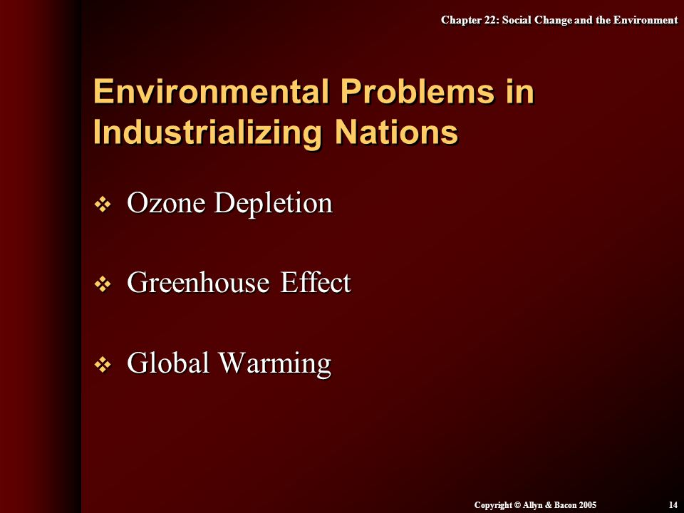 Environmental Problems in Industrializing Nations