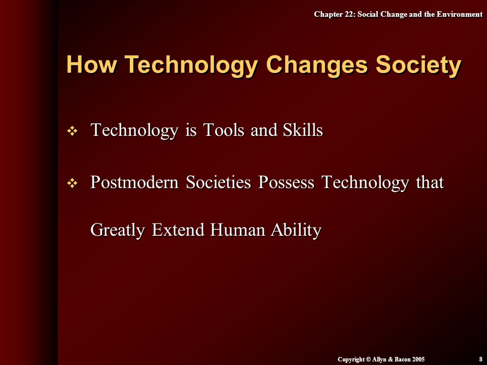 How Technology Changes Society