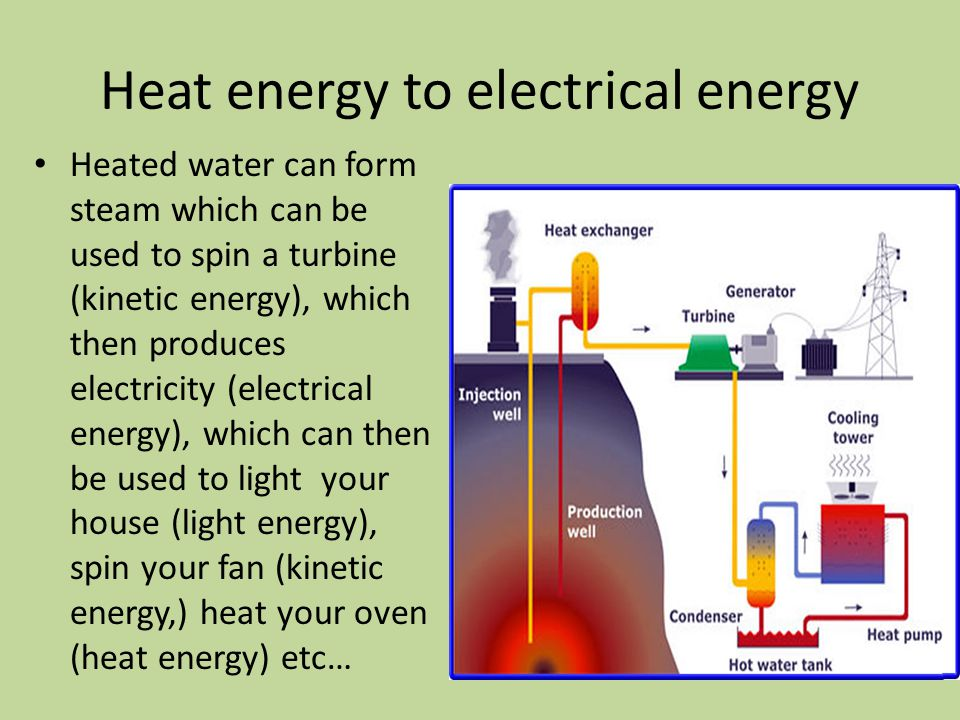 Energy transformation ppt video online download heat energy to electrical energy sciox Image collections