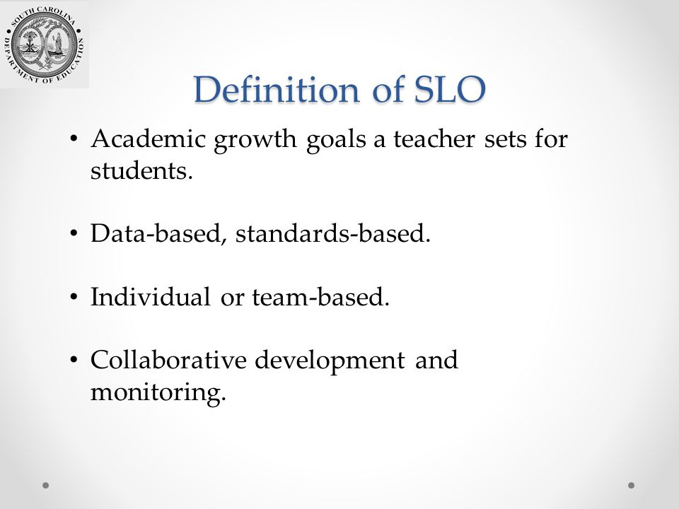 Collaborative Teaching Definition ~ Introduction to student learning objectives slos ppt