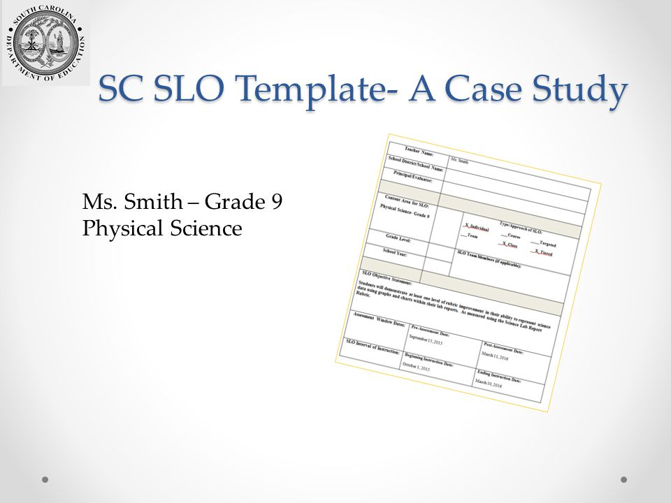 Introduction to student learning objectives slos ppt for Slo scoring template
