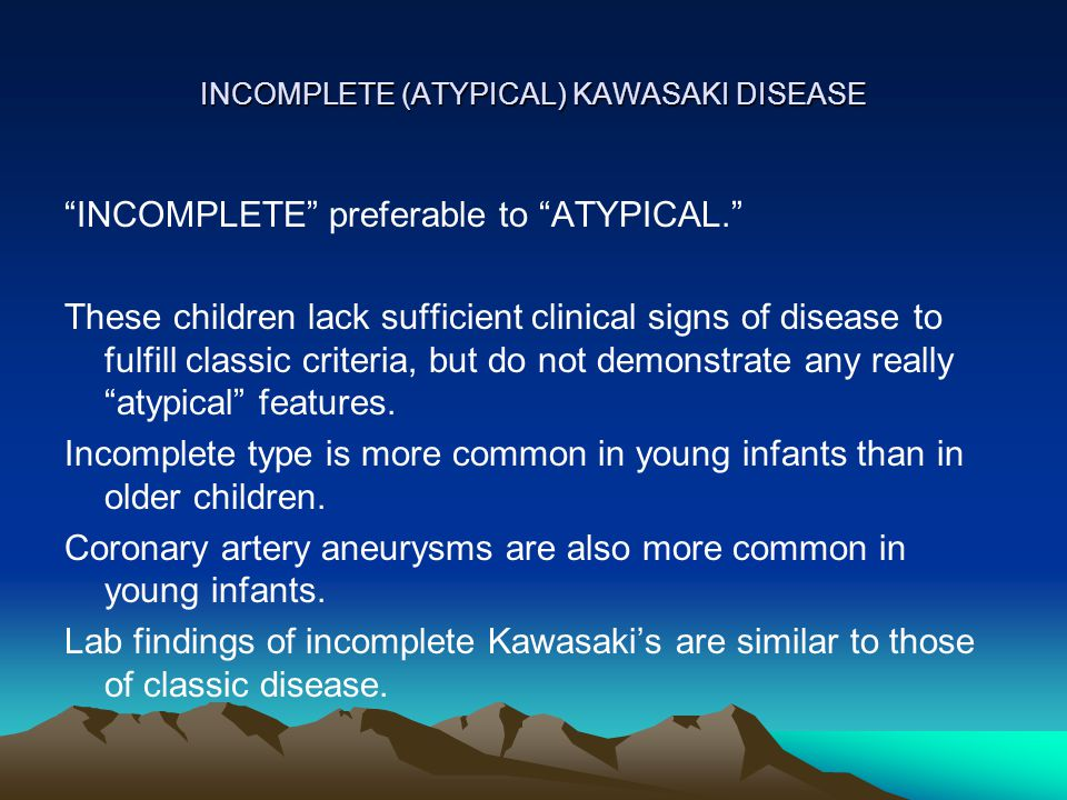 Atypical Kawasaki Disease In Infants