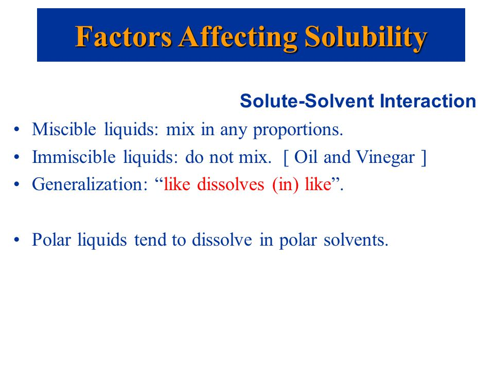 factors affecting solubility and colligative properties View homework help - chang-13s from chemistry 102 at university of wisconsin properties of solutions solution concentration factors affecting solubility colligative properties i solution a.