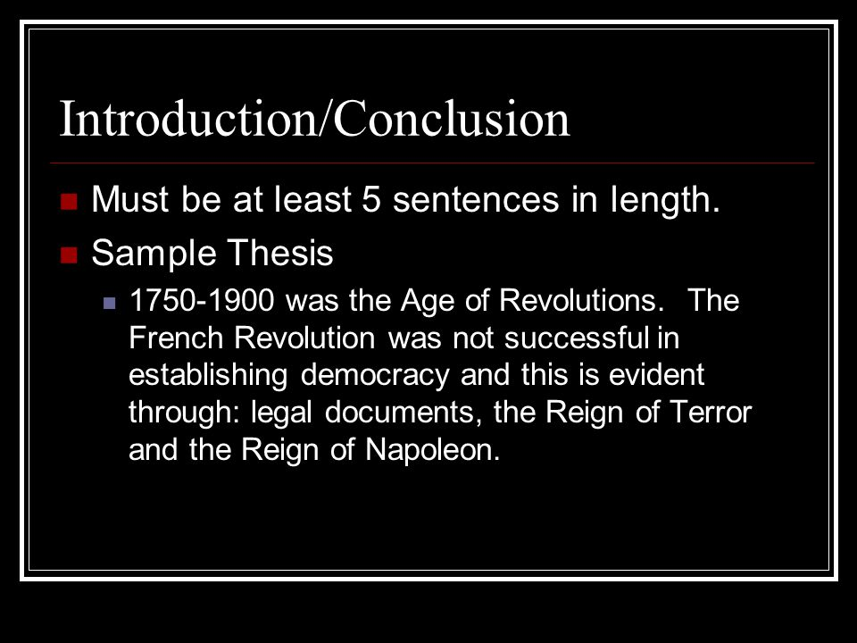 french revolution essay conclusion The revolution had a profound influence in history and it also had an extraordinary influence on the making of the modern world.
