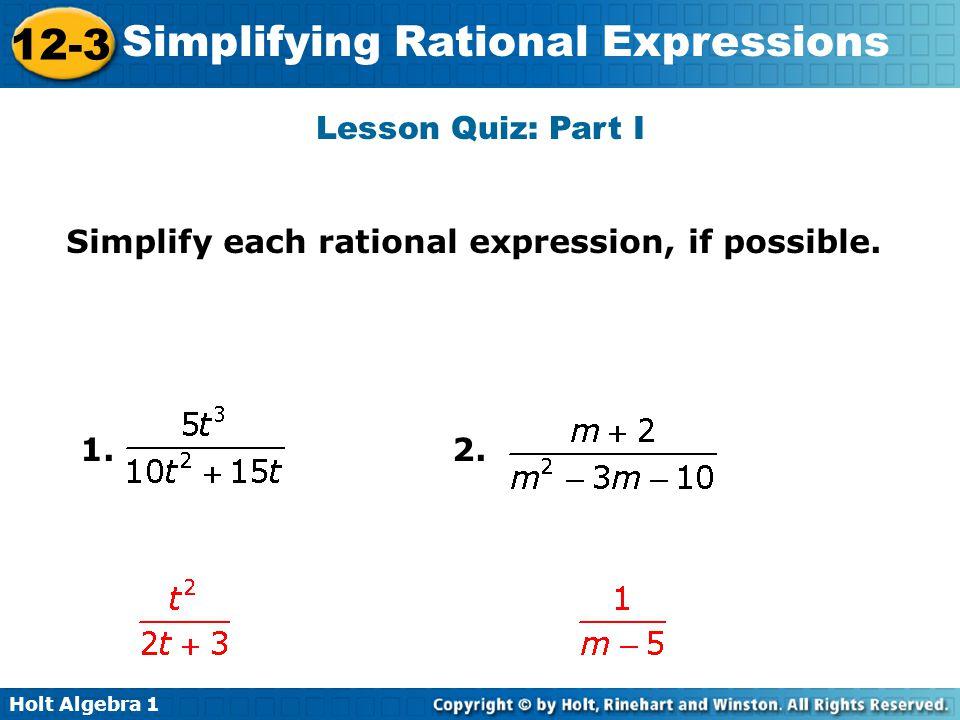 simplifying rational expressions quiz pdf