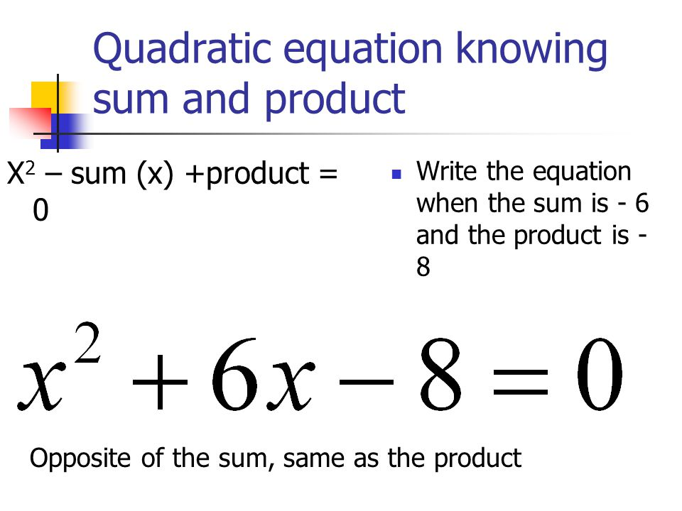 write a quadratic equation A quadratic equation is an equation having two roots which satisfies the given equation study about solution of roots of equation and their nature with byju's.