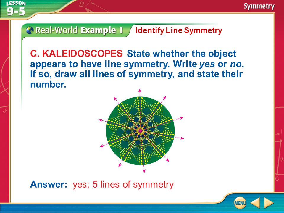 Answer: yes; 5 lines of symmetry