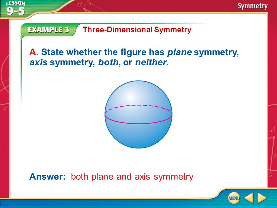Answer: both plane and axis symmetry