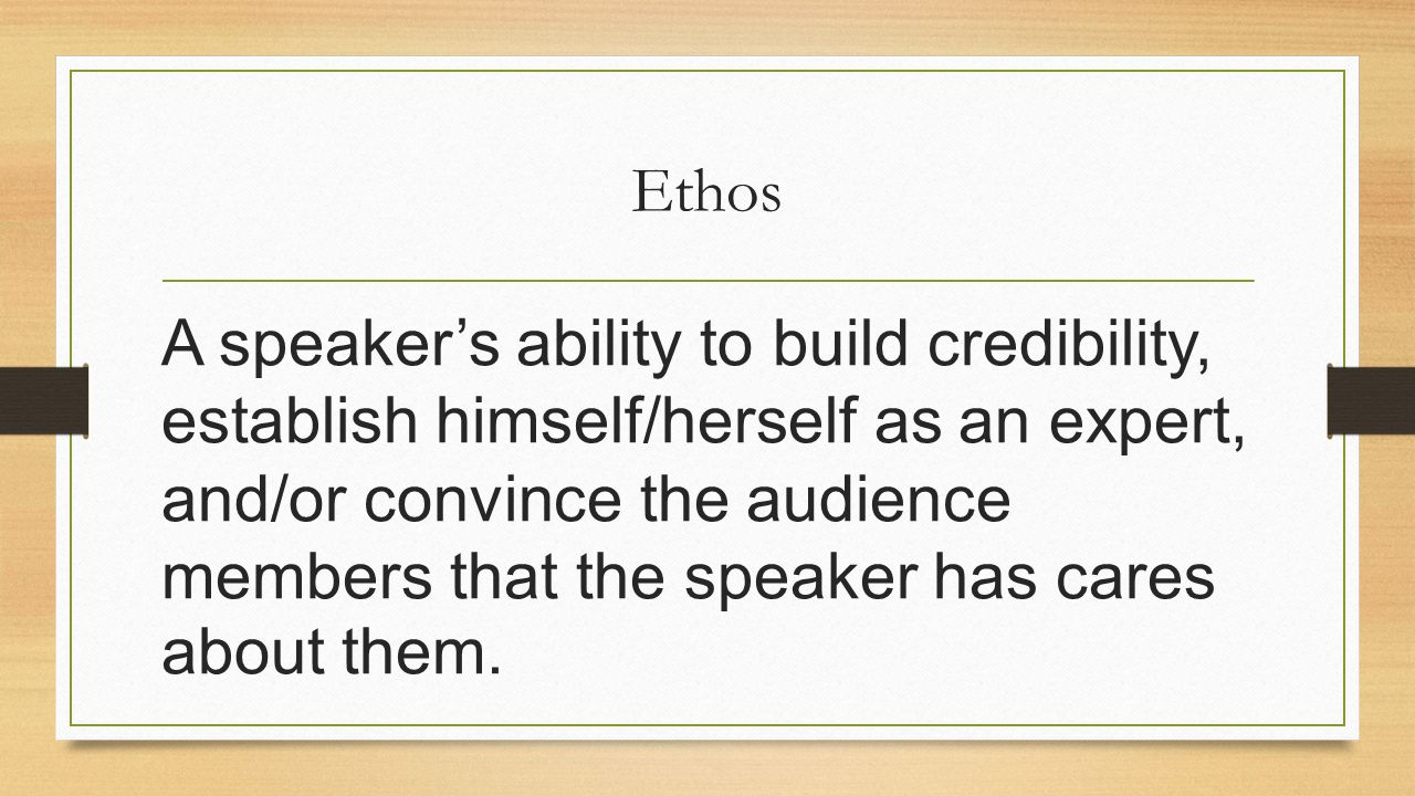 credibility establishing essay It is very important that you established your credibility for your audience to fully trust in what you are saying 15 tactics to establish ethos:.