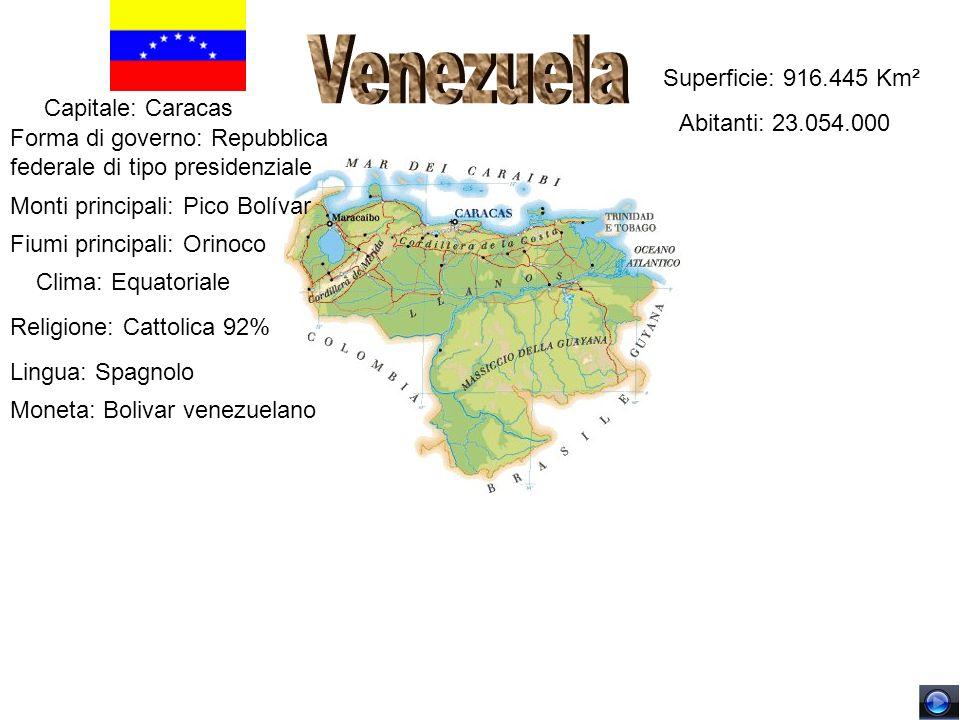 Venezuela Superficie: 916.445 Km² Capitale: Caracas