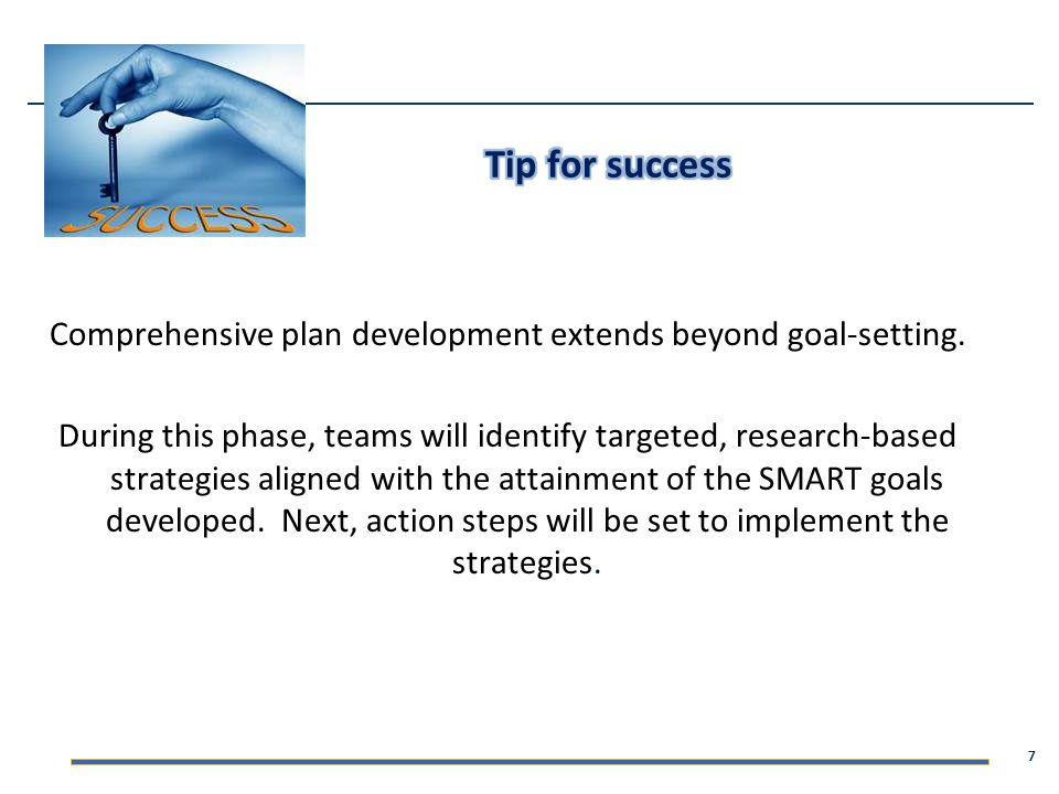 Comprehensive plan development extends beyond goal-setting.
