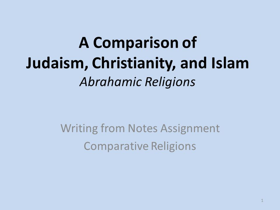 abrahamic made use of comparison article conclusion