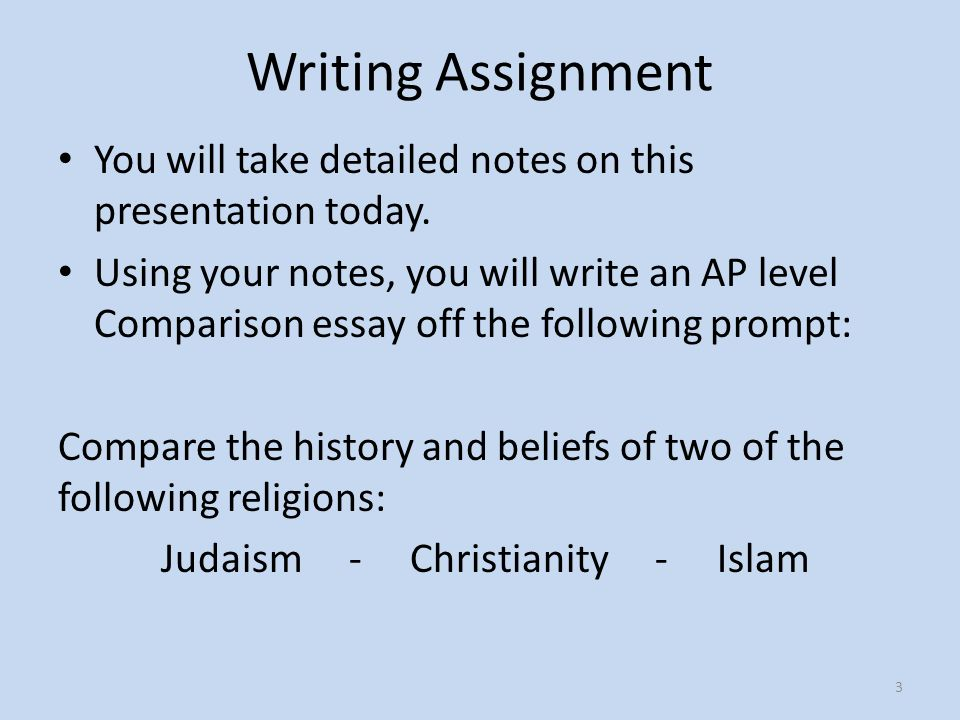 Essay comparing christianity and judaism