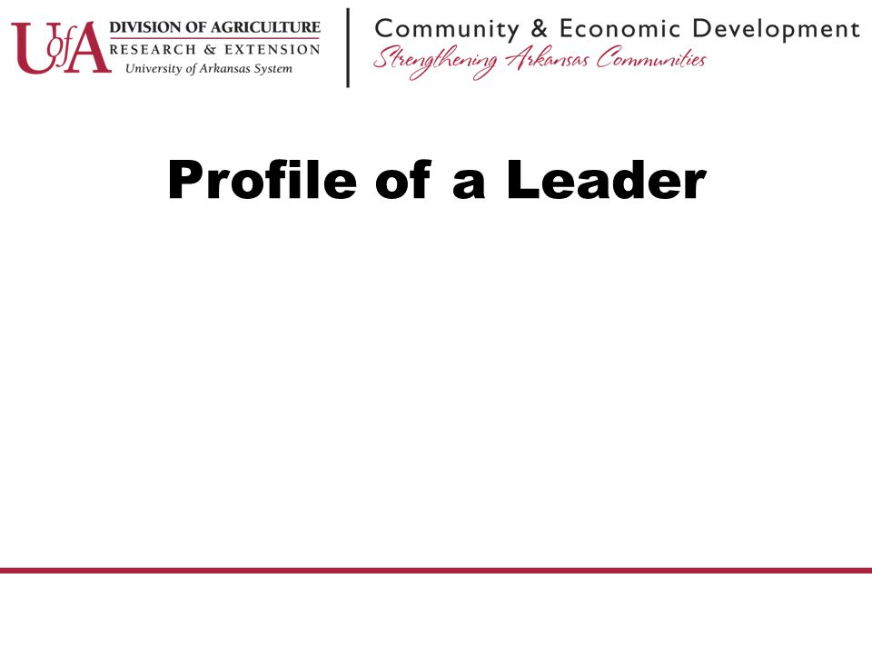 prolife of a leader The leadership profile should therefore reflect the uniqueness of an organization and what is special about its leadership it needs to be both a lever for consistency and allow for diversity so that it can be easily accepted and implemented.