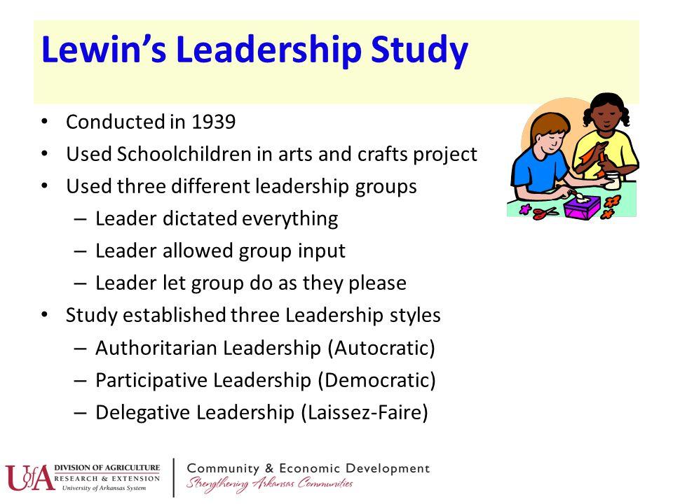 Lewin's Leadership Study