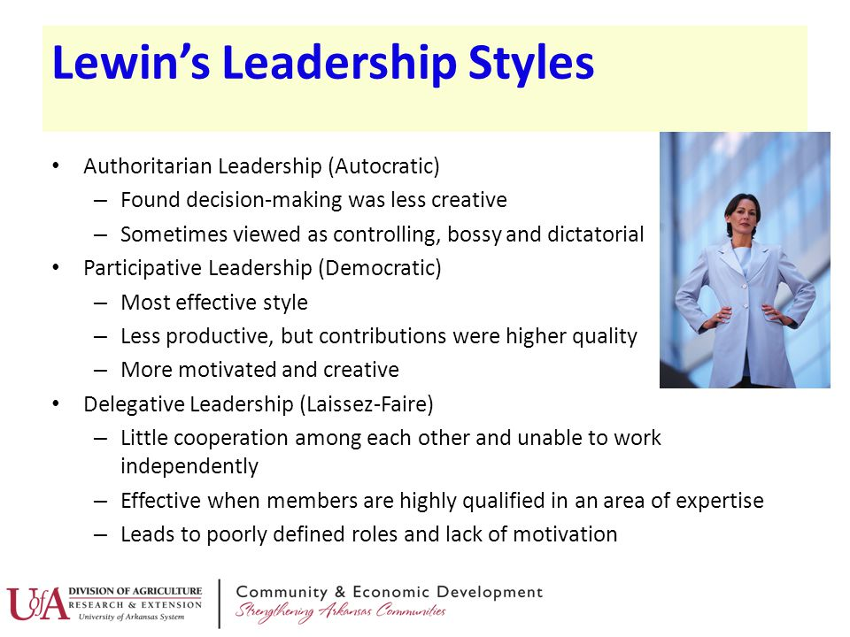 lewins leadership styles pros and cons