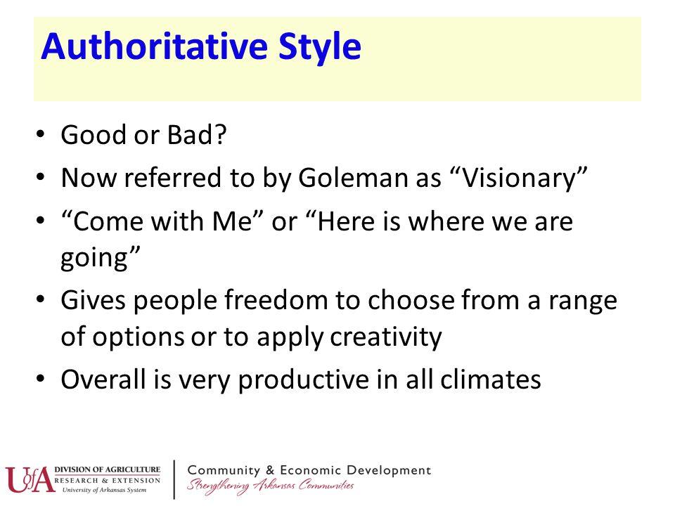 Authoritative Style Good or Bad