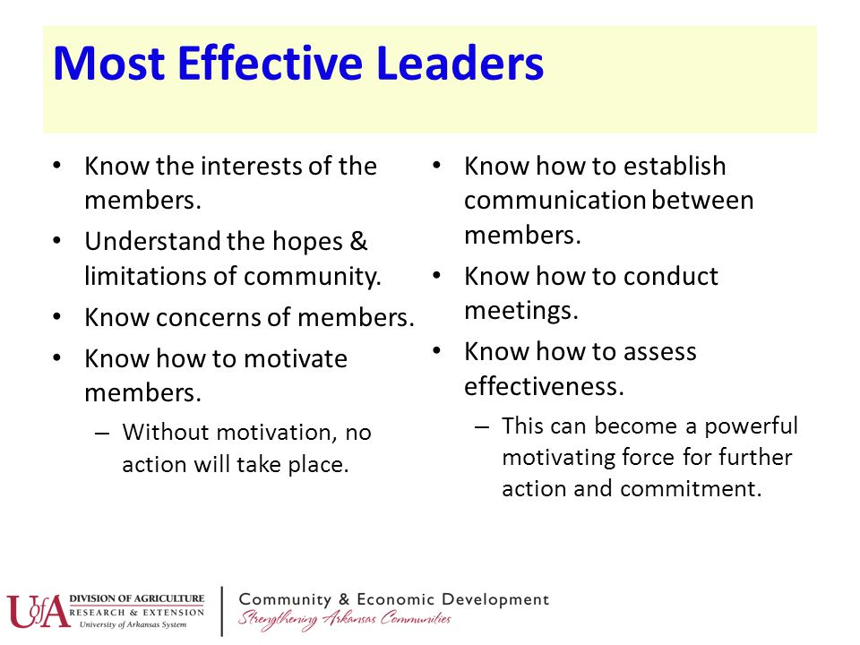 Most Effective Leaders