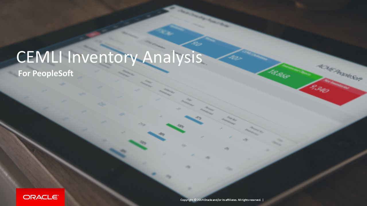 CEMLI Inventory Analysis