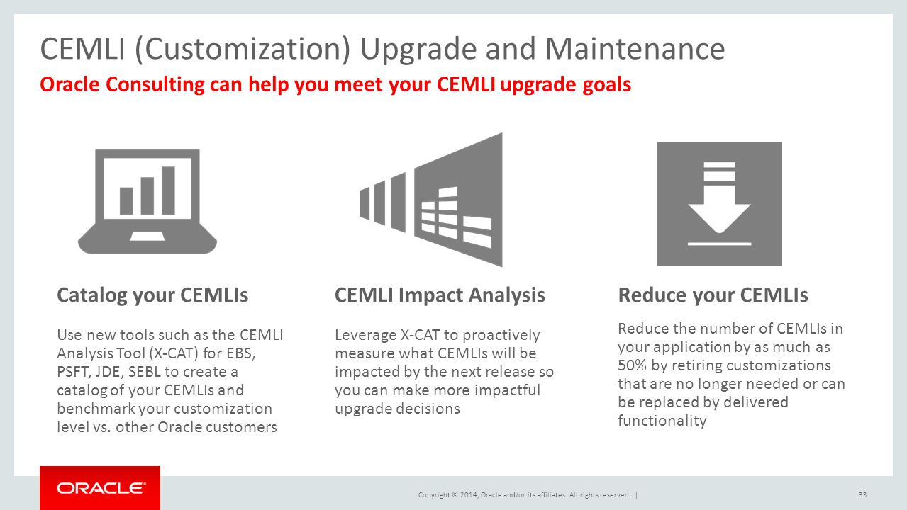 CEMLI (Customization) Upgrade and Maintenance