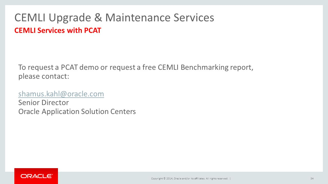 CEMLI Upgrade & Maintenance Services