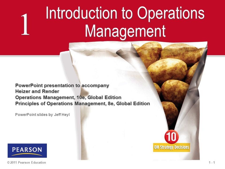 Principles Of Operations Management Chapter 1 2 3 Essay
