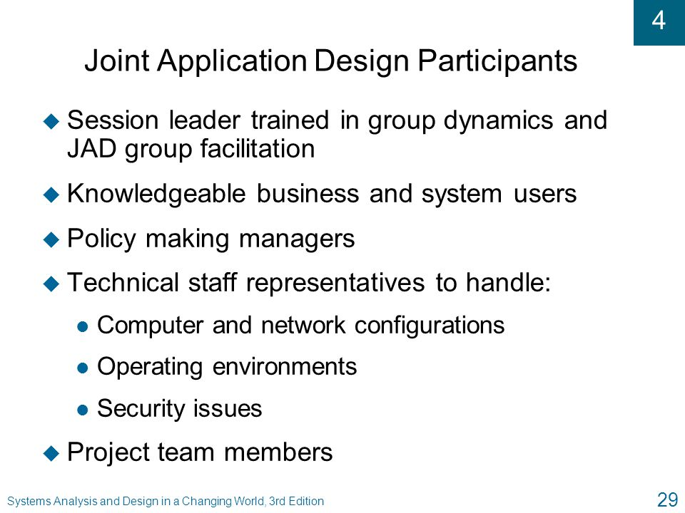 Joint Application Design Participants