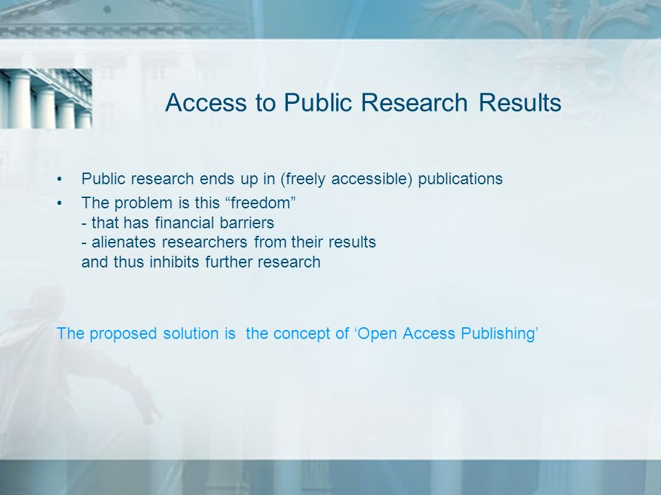 Access to Public Research Results