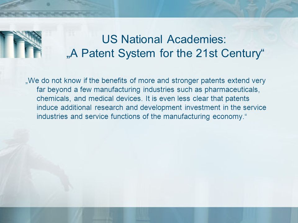 "US National Academies: ""A Patent System for the 21st Century"