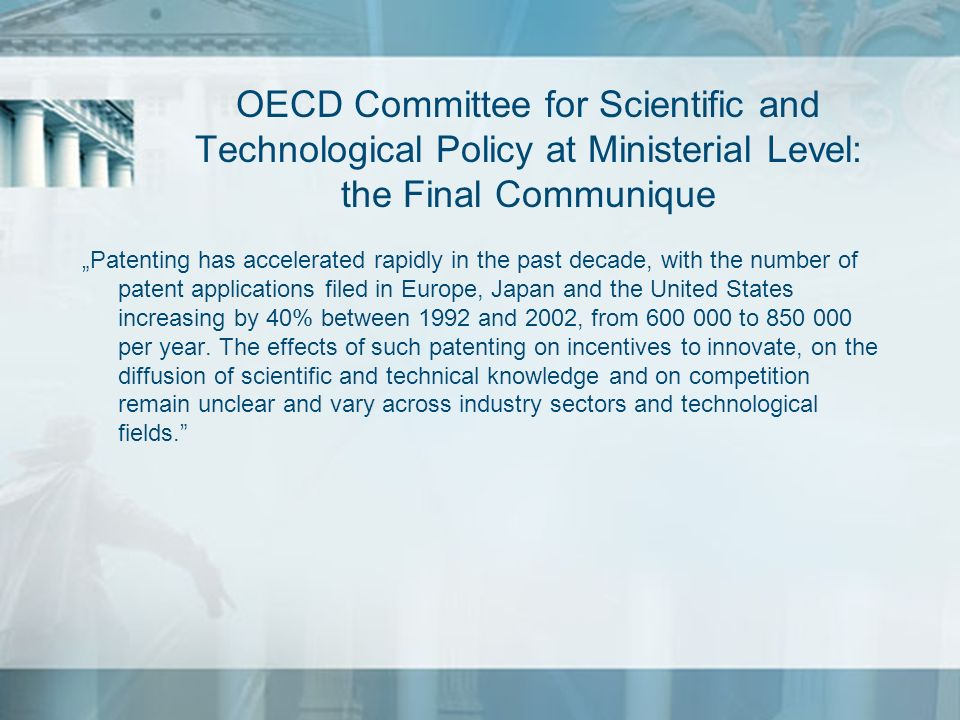 OECD Committee for Scientific and Technological Policy at Ministerial Level: the Final Communique