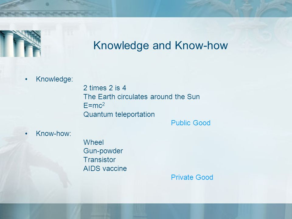 Knowledge and Know-how
