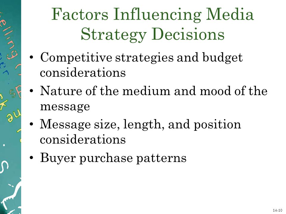 Factors Influencing Media Strategy Decisions