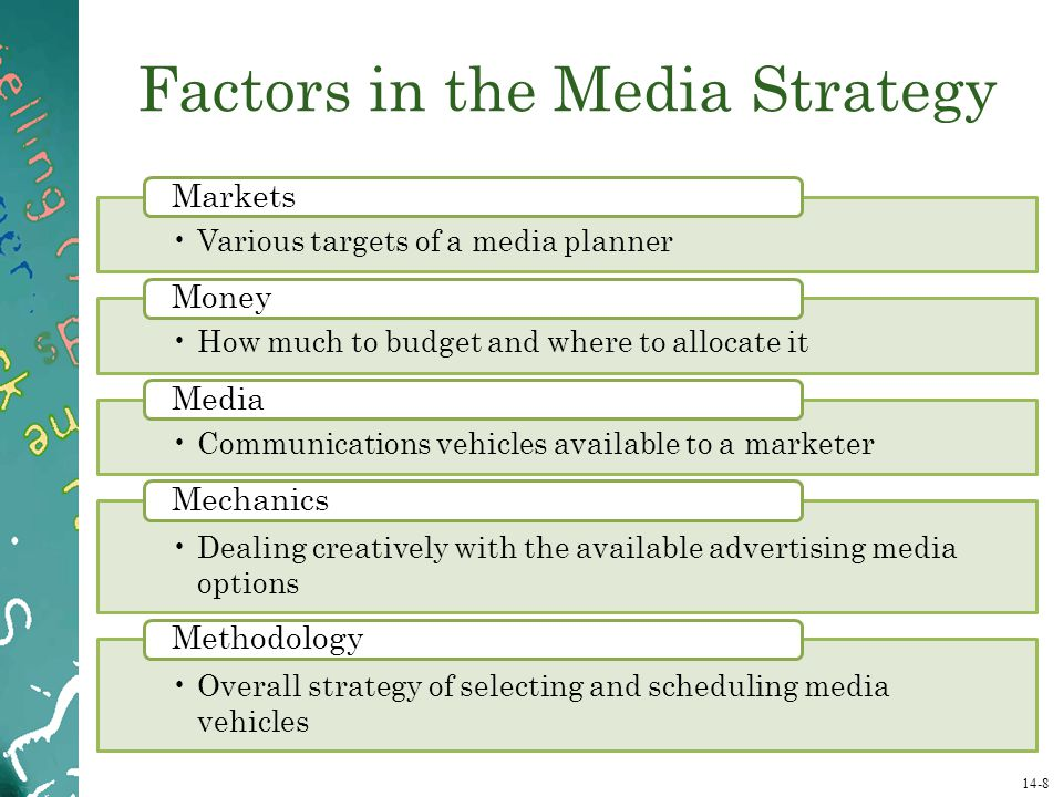 Factors in the Media Strategy
