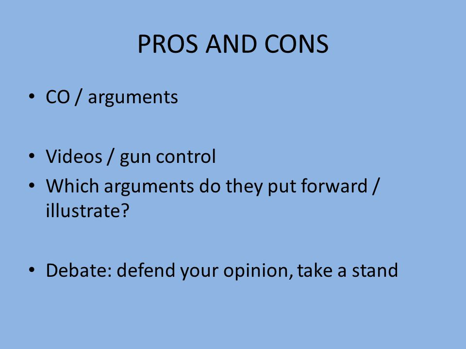 gun control cons essay Gun control pros and cons essay - craft a quick custom research paper with our assistance and make your professors shocked allow us to take care of your bachelor.