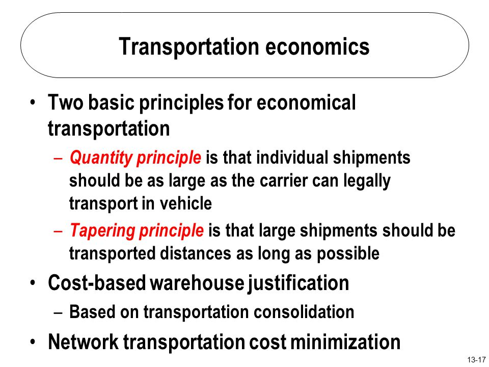 transportation cost economics The turn-round of cargo liners and its effect upon sea-transport costs  the  author gives a statistical analysis of the economics of norwegian coastal.