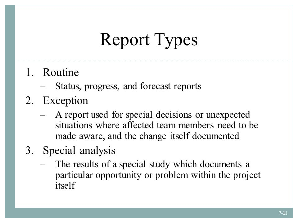 Top 5 Types of Project Management Reports - YouTube