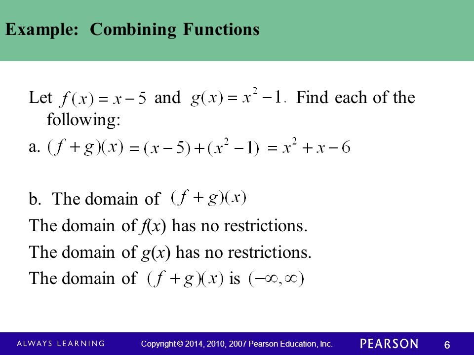 Example: Combining Functions