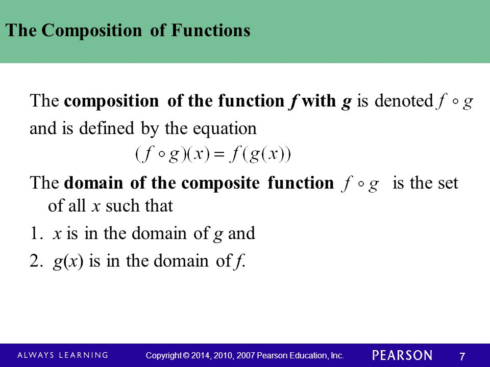 The Composition of Functions