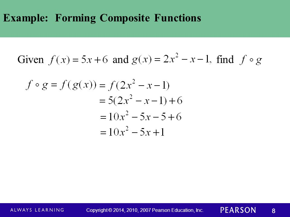 Example: Forming Composite Functions