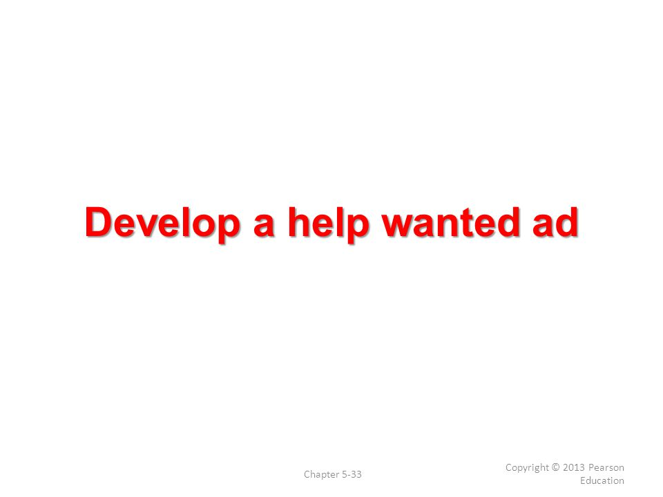 writing a help wanted ad Take a look at our helpful tips on writing a  look in your own backyard to get the best feedback on writing a job posting for salespeople  these comments help.